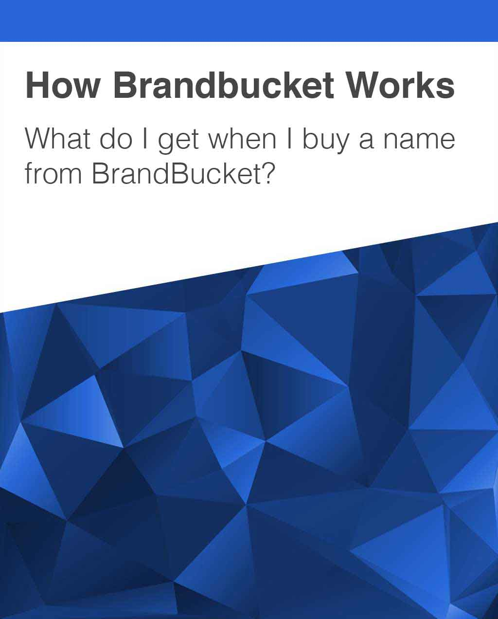 What domain extensions does BrandBucket offer?