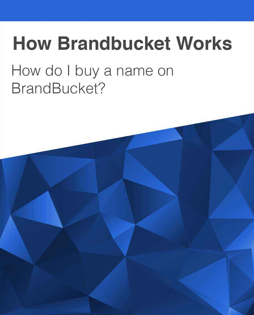 Buy a Name from BrandBucket