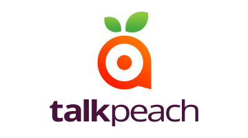 Logo for Talkpeach.com